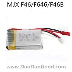 MJX F46 F646 Helicopter parts, 7.4V 700mAh Battery, mjxr/c F46B I-Heli single Helicopter, F-46 F-646
