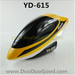 Attop YD-615 Helicopter Parts, Head Cover Yellow, Attoptoys RGDS YD615 rc Helicopter Toys