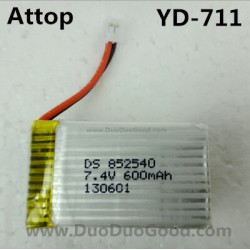 Attop YD-711 Helicopter parts, 7.4V 600mAh Battery, Attoptoys YD711 Avatar fighting plane Aircaft
