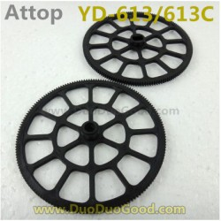 Attop YD-613 Helicopter parts, Upper and Lower main Gear, Attoptoys YD-613C YD613 YD613C RC helicopter accessories