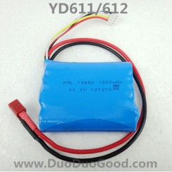 Attop YD-611 YD-612 Helicopter Parts, 1500mAh Battery, attoptoys YD611 YD612 RC helicopter