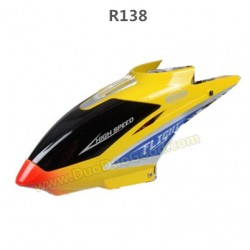 RunQia toys R138 helicopter parts, Head cover, yellow, run qia heli