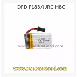 DFD F183 6 Axis Quadcopter parts, 7.4V 500mAh Battery, JJRC H8C Quad copter