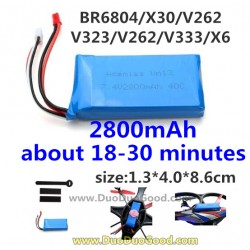 BORONG BR6804 Quad-copter, Upgrade Battery 2800mAh, Bo Rong BR-6804 Quadrocopter