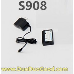 Subotech S908 FIRE cattle helicopter parts, Charger set, S-908 HELI