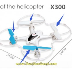 MJX RC X-Series X300 FPV 2.4G quadcopter parts, Main Rotor, X-300 UFO