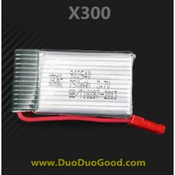 MJX RC X-Series X300 FPV 2.4G quadcopter parts, 750mAh Battery, X-300 UFO