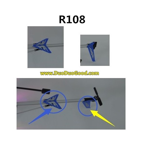 RunQia toys R108 Helicopter parts, Vertical Tail, Run qia R-108 helikopter