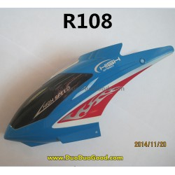 RunQia toys R108 Helicopter parts, Head Cover, Run qia R-108 helikopter