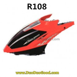 RunQia toys R108 Helicopter parts, Head Cover Red, Run qia R-108 helikopter
