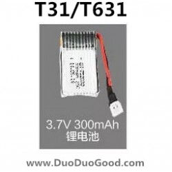 MJX T-Series T31 RC helicopter Parts, 300mAh Battery, T631 Helikopter