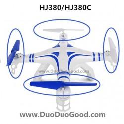 HuaJun Challenger HJ380 HJ380C Quadcopter Parts, Main Blades blue, 2.4G 6-Axia UFO