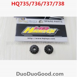 HQ735 HQ736 HQ737 HQ738 rc Car Parts, Bevel Gear 2PCS, Hqtoys hq-738 HuanQi remote control Car,M0547
