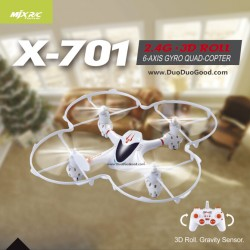 MJX R/C X-701 2.4G Quad-copter, X701 MINI UFO 14CM, 3D Roll Gravity Sensor