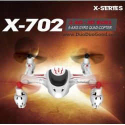 MJX R/C X-702 3D Quad-copter, X-series X702 MINI UFO 250mAh Battery, 2.4G Roll Gravity Sensor
