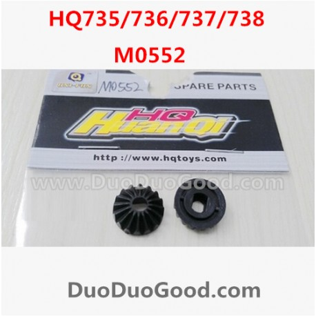 HQ735 HQ736 HQ737 HQ738 rc Car Parts, Bevel Gear 2PCS, Hqtoys hq-738 HuanQi remote control Car,M0552