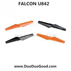 Udi FALCON U842 Quad-copter parts, Rotor red and Black, UdiR/C U-842 Quadrocopter-01