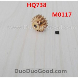 HQ738 rc Car Parts, Copper Gear, 1:10 17T, Hqtoys hq-738 HuanQi remote control Car,M0117