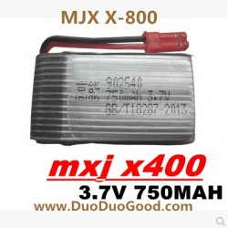 MJX X-800 Quad-copter Parts, 3.7V Battery, MJX R/C X800 3D roll 6-axis Quadrocopter
