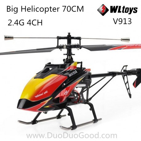 Wltoys V913 Helicopter, 2.4G 4CH Big helikopter, sky leader 70CM, RTF