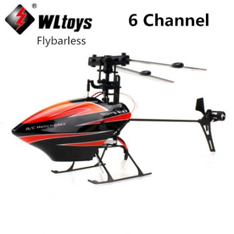 Wltoys V922 helicopter, 6 Channel single propeller Flybarless helicopter, 2.4G 3D mini helios