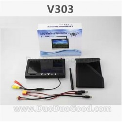 Wltoys V303 Quadrocopter Seeker Parts, 32FM 5.8G RM5823 Screen Display, wlmodel V-303 aerial Quadropter accessories