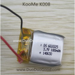 KOOME K008 Helicopter parts, Battery 180mah, KOO ME K-008 RC helikopter