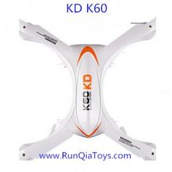 Kai Deng K60 Quadcopter parts, Body Shell white, Kaideng KD K60C RC Drone