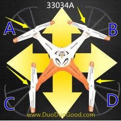 Mould King 33034A Quadcopter, Main Blades, Model King Aircraft spare parts