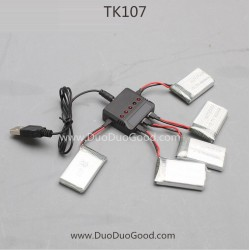 Skytech TK107 SKY Drone, Battery and Upgrade USB Charger, 4.5CH 2.4G big Quadcopter parts