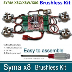 SYMA X8C X8W X8G Brushless Motor kit