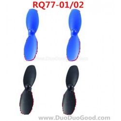 RunQia RQ77-01, RQ77-02 Quadrocopter parts, Propeller, Rotor, Rua Qia toys RC UFO accessories