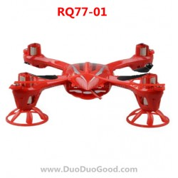 RunQia RQ77-01, Quadrocopter parts, Body Cover, Shell Red, Rua Qia toys RC UFO accessories