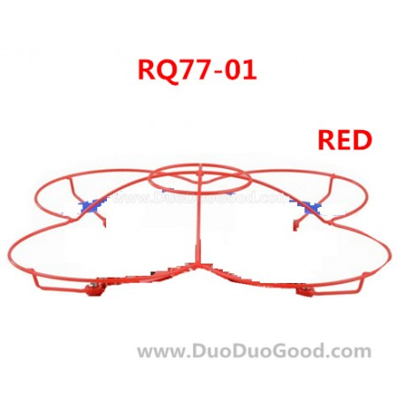RunQia RQ77-01 UFO parts, Protect Ring Red, Rua Qia toys RC Quadrocopter accessories