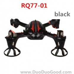 RunQia RQ77-01, Quadrocopter parts, Body Frame, Cover black, Run Qia toys RC UFO accessories