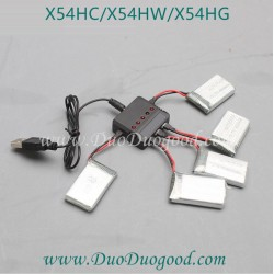 SYMA X54HC Quadcopter Parts, Battery and Charger, SYMA X54HW WIFI FPV real-time image Drone