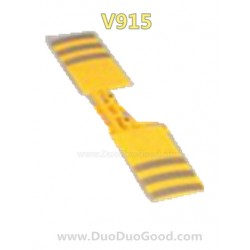 Wltoys V915 RC helicopter parts, Horizontal Tail Yellow, WL-model V-915 2.4G 4CH helicopter Review