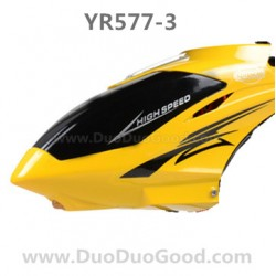 YRtoys YR577-3 Helicopter parts, Head cover Yellow, YiRun YR-577-3 RC helikopter accessories