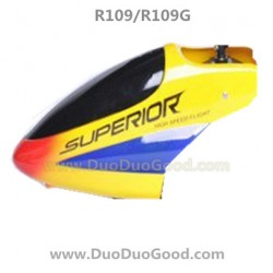 RunQia R109 helicopter parts, Head Cover, Yellow, R109G rc Helikopter toys accessories, R-109, R-109G