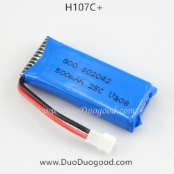Hubsan H107C+ Drone Parts, 500mAh Lipo Battery, X4 CAM Plus Quadcopter