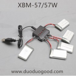 Xiao Bai Ma XBM-57 Drone Parts, battery and charger T-smart XBM-57W WIFI FPV Quadcopter