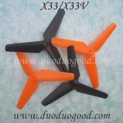 XinXun X-33V HELI Quad, Propellers, Xin Xun X33 X-33 stunt Drone