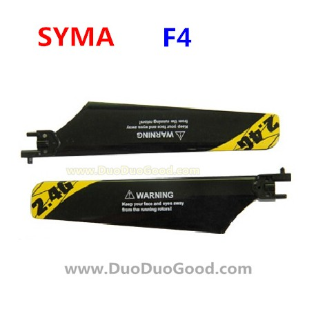 SYMA F4 Helicopter Parts, main Blades, orange, Symatoys SM F4 ASSAULT 2.4Ghz RC helikopter