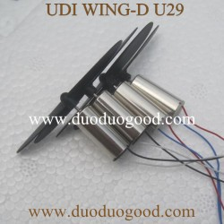 UDI WING-D U29 Drone Parts, Motor with blades, UDIRC WIFI FPV