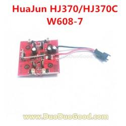 HuaJun Aeromodelling HJ370C Quadcopter, Receiver Board, Hua Jun Pathfinder HJ370 W608-7 rc UFO Parts