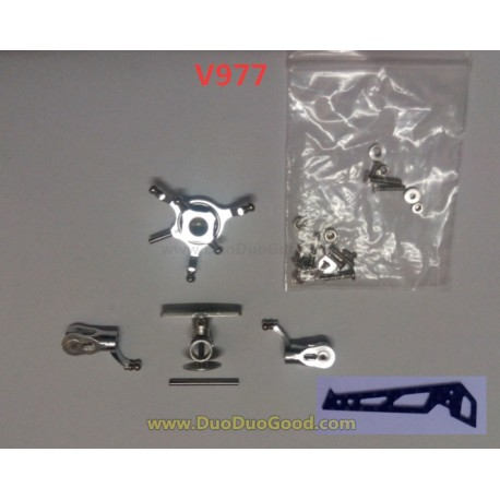 Wltoys V977 Flybarless Helicopter parts, Upgrade Universal rudder Sliver, WL-Model Toys Power Star X1 RC heli accessories