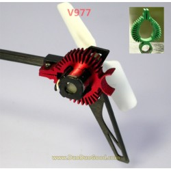 Wltoys V977 Flybarless Helicopter parts, Tail Motor Aluminum Radiator, WL-Model Toys Power Star X1 RC heli accessories
