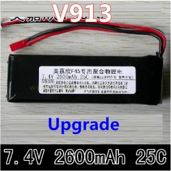 WLtoys V913 Helicopter parts, 2600mAh Upgrade Battery 25C, Wl-model toys V-913 sky Leader 2.4Ghz Single Screw