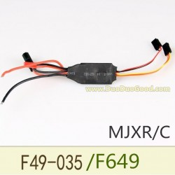 MJX F49 Shuttle Helicopter parts, ESC for motor, MJXR/C F649 remote control single helicopter
