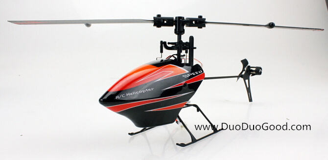 6 channel single fybarless helicopter V922